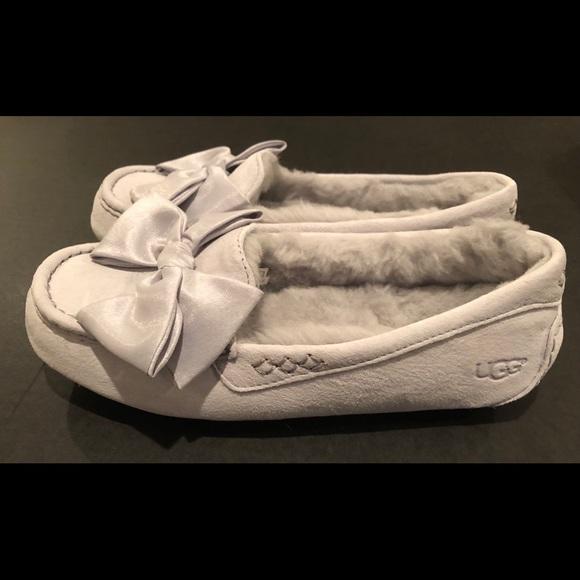 299dca0ff52 Ugg Clara glam bow slipper moccasins gray sz 8 nib